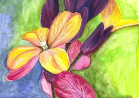 No.3 watercolour wall flowers by Trinity23