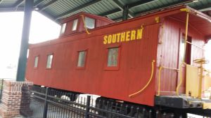 Wooden Southern Caboose by dinodanthetrainman