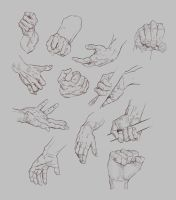 Hand studies 2012 by MikkoVoipio