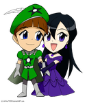 Chibi Jamie and Katy by ArthurT2015
