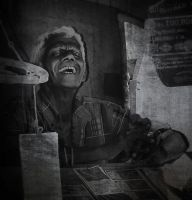 Lottery Ticket man. Sri Lanka by jennystokes