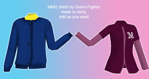MMD shirts+DL by Green-Fighter