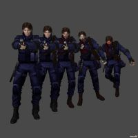 R.P.D. SWAT Lieutenant Damian Handy Pack(Debating) by DamianHandy