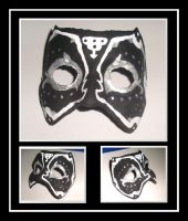 Persian Mask Black And White by TheFlyingHeart