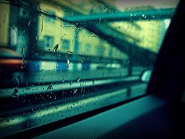 The rain on the glass by Saigleri