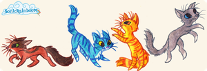 4 cats. by SonicRainboomZ