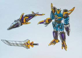 ONIRANGERS part 2: oni dolphin armament by kishiaku