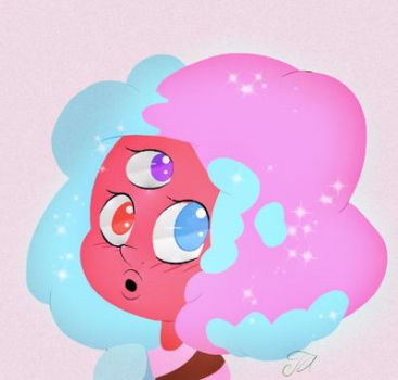 Cotton Candy Garnet by olivine-evanescent