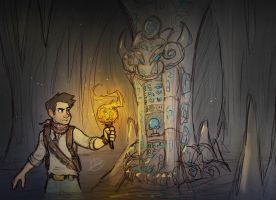 Nathan Drake in The Dragon Cave by LuigiL