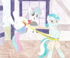 Request - Blossomforth wedgies Lyra by wjmmovieman