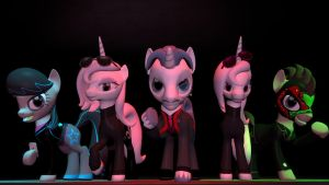 Syndicate Bosses, As Played by Background Ponies by Andrewnuva199