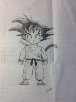 Kid Goku  by Psychotic-Turtle