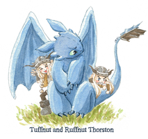 Httyd-Ruffnut and Tuffnut by 4leafcolour