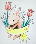 Bunny and Tulips by Weirdness