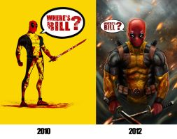 Deadpool Then and Now by AndrewKwan