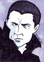 Dracula Bela Lugosi Sketchcard by JesseAcosta