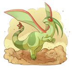 PokeddeXY - Flygon by Electrical-Socket