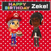 Happy Birthday Zeke by GoldRaibowMario2