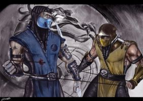 Subzero Vs Scorpion by P3M