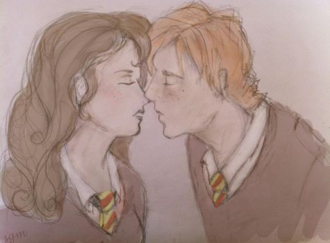 Ron and Hermione by soapypotterhead