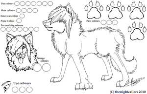 Free Scene wolf lineart by thenightcallers