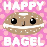 HAPPY BAGEL!!! by jimathers