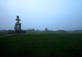 Inukshuk + English Bay Fog 01 by nyxchaotica