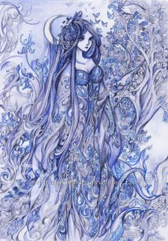 Indigo lady by Hellobaby