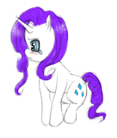 Chibi Rarity by CrisisDragonfly