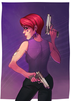 Saints Row 3 Character Commission by andarix