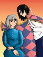 Howl and Sophie by Larkie-Star