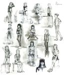 sketches of people by Angelmewkaro