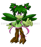 Sonic Chara: Shamrock the Tree Nymph by Zephyros-Phoenix