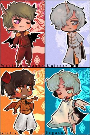 (mythical beasts) chibis