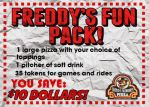 80s Freddy Fazbear's Pizza Coupon by thechosenone12