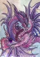 ACEO Dragon 46 by rachaelm5