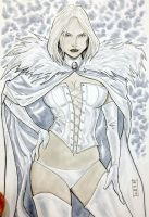 Emma Frost sketch by Dave-Acosta