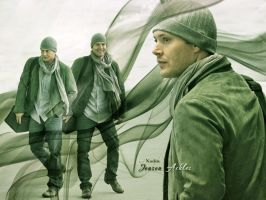 Jensen at the airport by Nadin7Angel