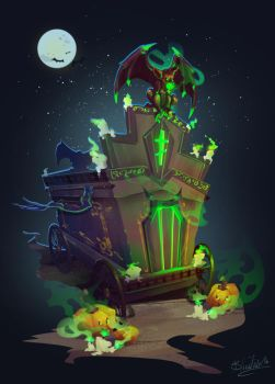 Halloween_Cart by BlindFoxy