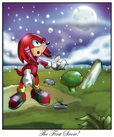Knuckles the first snow by kintobor