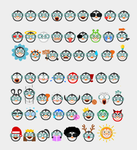 Penguin Emoticon Set by DianaGyms