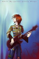 While My Guitar Gently Weeps by karrey
