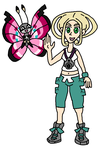 Viola and Vivillon by PsychoZoid