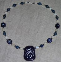 'Moon Dragon' necklace by jen-kollic