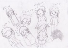 :OLD: chibis at school by VampireChu