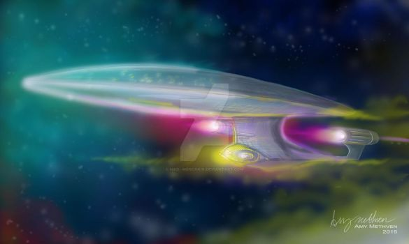 (Commission)  Star Ship Enterprise by Mad--Munchkin