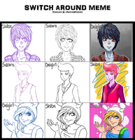 Adventure Time- Switch Around Meme by SakuraYagami