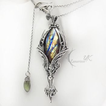 NANHTULITH - silver and labradorite. by LUNARIEEN