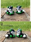 Seahawks fox keychain commissions by SculptedCreations
