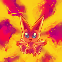 Victini used CompleteBurn by MBLOCK